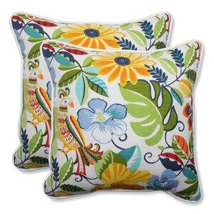 Guadaloue Indoor/Outdoor Throw Pillow (Set of 2)