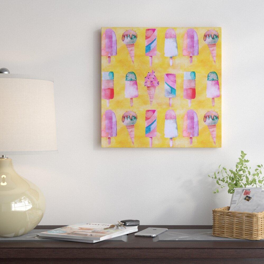 East Urban Home \'Popsicle Icecream\' Graphic Art Print on Canvas ...