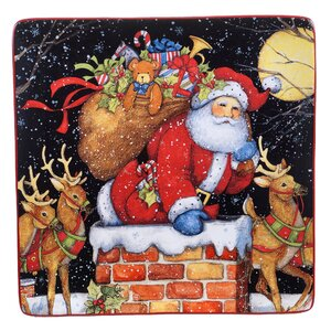 The Night Before Christmas Square Platter