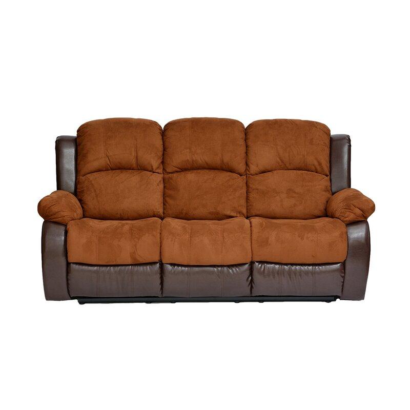 Traditional 2 Tone Recliner Reclining Sofa