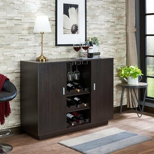 Funkhouser Wooden Bar with Wine Storage