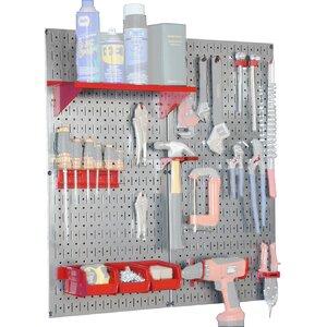 Utility Tool Storage and Garage Pegboard Organizer Kit