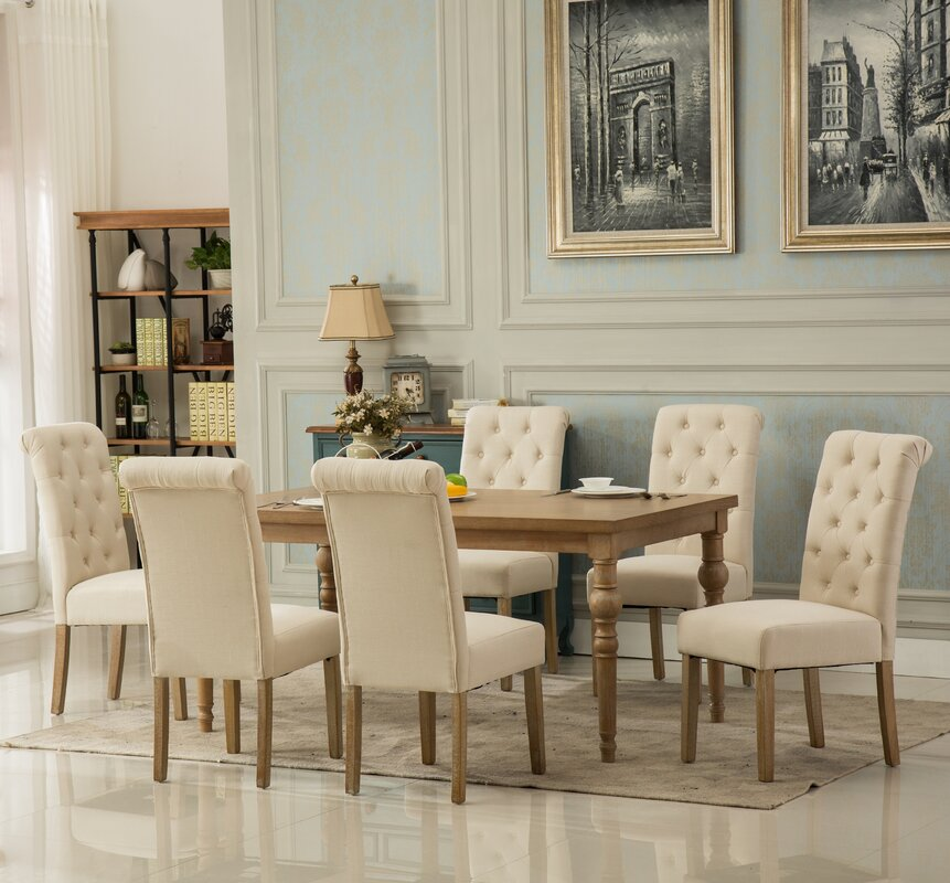 Bungalow Rose Kenleigh Solid Wood 7 Piece Dining Set & Reviews ...