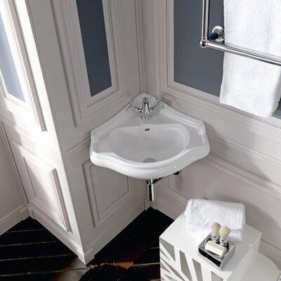 "duravit 1930 series 24"" corner bathroom sink with overflow"
