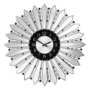 Oversized 60cm Mirrored Metal Wall Clock