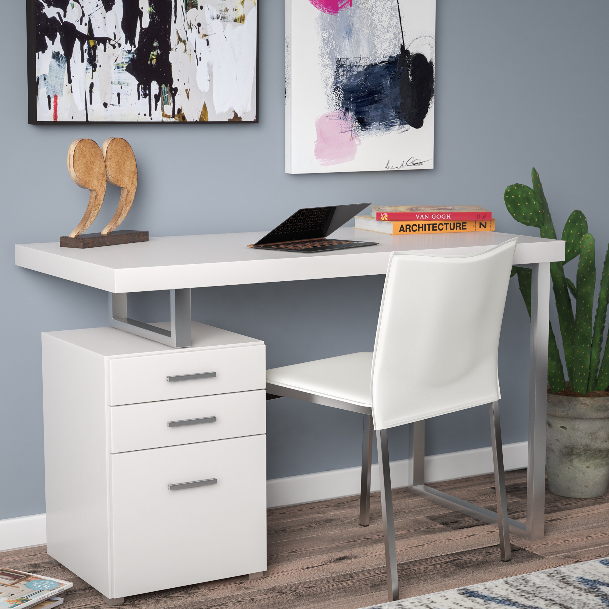 p southern enterprises white drawers with drawer writing desks in crisp desk