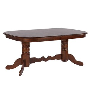 Hansen Double Pedestal Extendable Dining Table by Darby Home Co