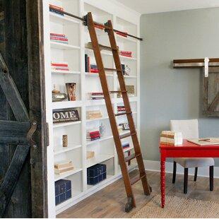 Rolling Library Ladder Wayfair
