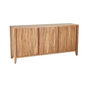 Brydon Rustic Wood 3-Door Sideboard