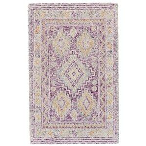 carlotta handtufted purple area rug