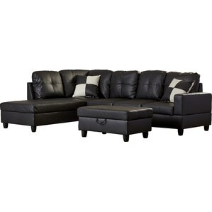 sc 1 st  AllModern : faux leather sectional - Sectionals, Sofas & Couches