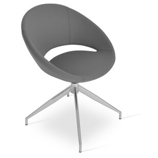 Crescent Spider Swivel Side Chair