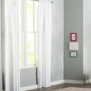 Alexander Solid Blackout Thermal Rod Pocket Single Curtain Panel