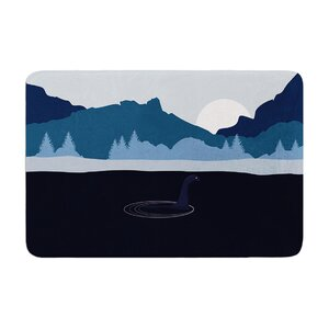 Swimming with Nessie Memory Foam Bath Rug
