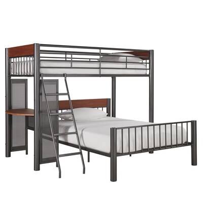 Viv Rae Lesa L Shaped Bunk Bed With Desk Wayfair