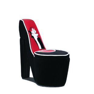Elford Glamor Girl Piping High Heel Storage Side Chair