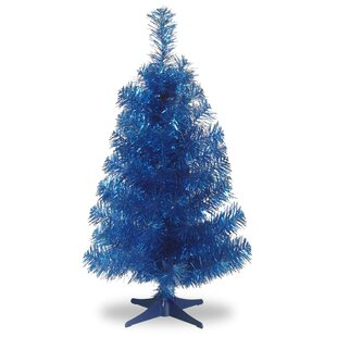 tinsel trees 3 blue artificial christmas tree and stand