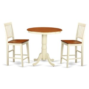 Eden 3 Piece Counter Height Pub Table Set by Wooden Importers