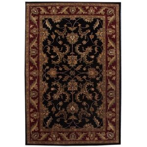 Aaryan Black/Burgundy Area Rug