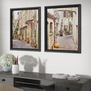 Exceptional U0027Tuscan Alleywayu0027 2 Piece Framed Photographic Print Set