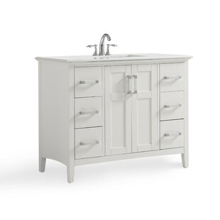 Winston 43 Single Bathroom Vanity With Quartz Marble Top