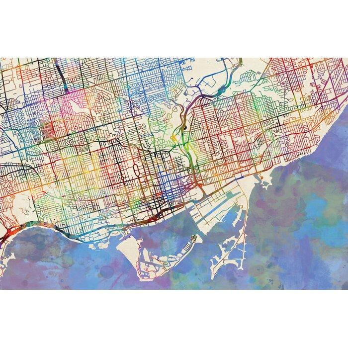 East Urban Home Urban Rainbow Street Map Series Toronto Canada - Toronto canada map