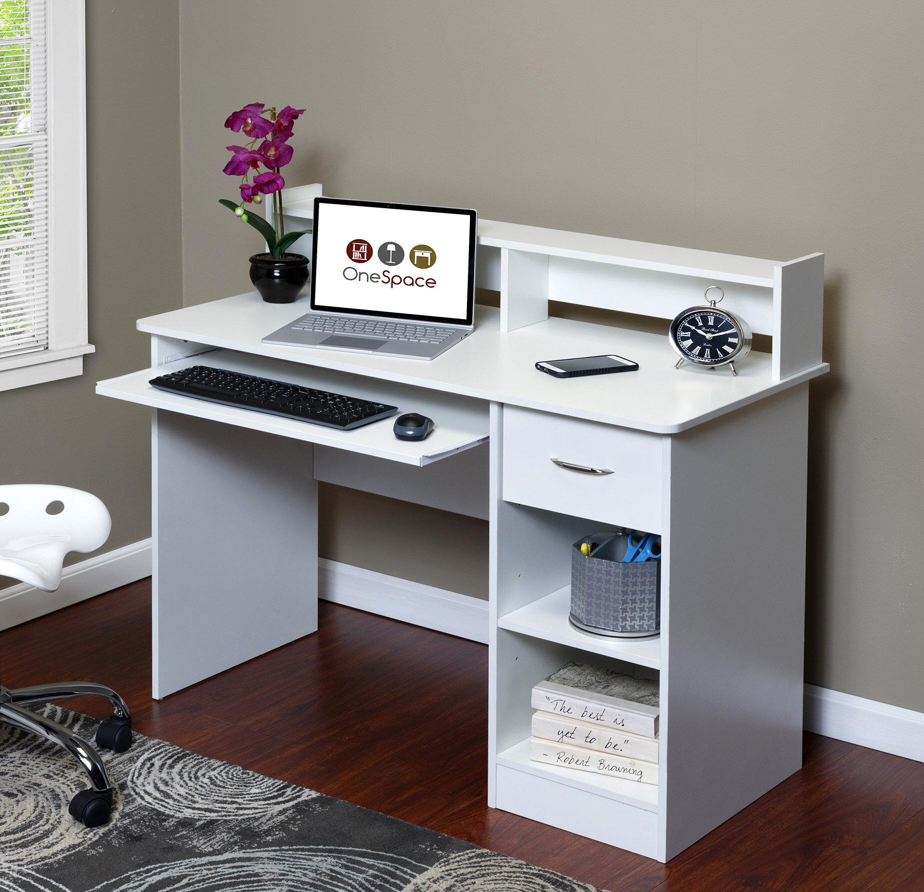 OneSpace Essential Computer Desk With Hutch U0026 Reviews   Wayfair
