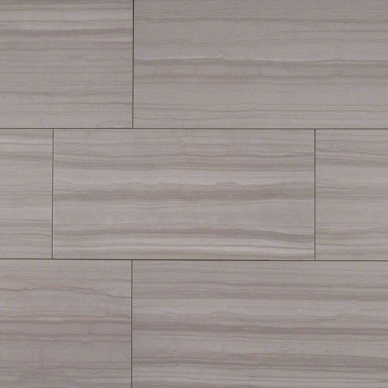 Sophie Gray 12 X 24 Porcelain Wood Look Tile In Gray Allmodern