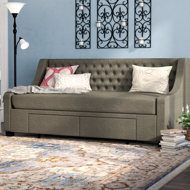 Top Rated Furniture Stores: Darby Home Co Aron Twin Upholstery Storage Daybed
