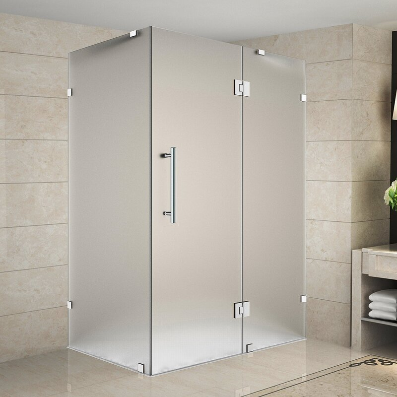 Avalux 36 X 72 Hinged Frameless Shower Door