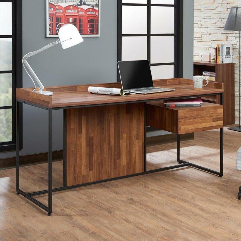 union rustic kuhlman contemporary office desk wayfair