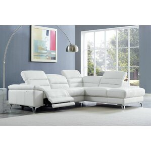 Westall Leather Reclining Sectional by Wade ..