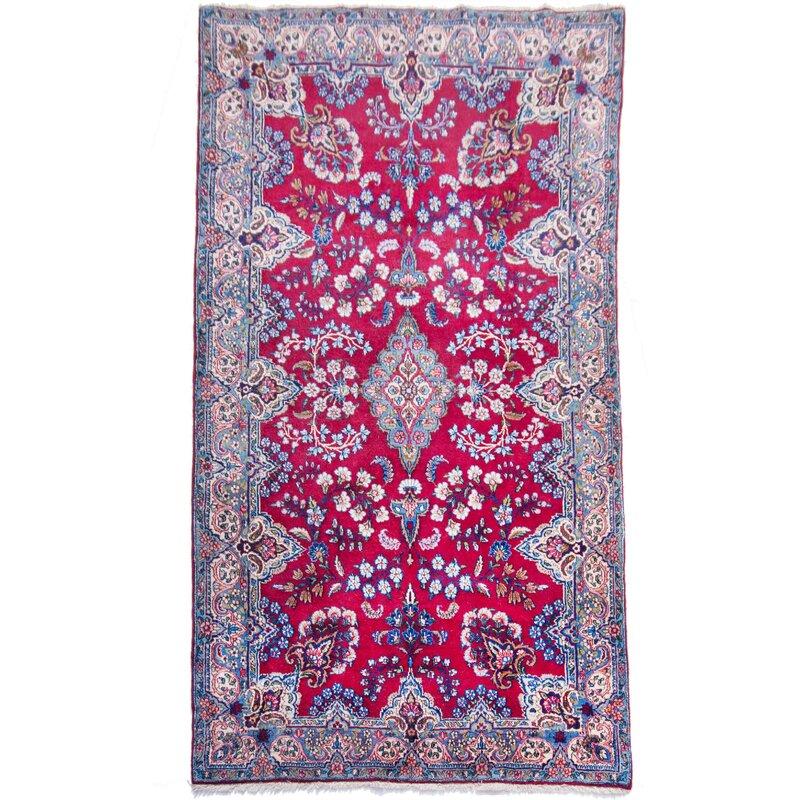 parwis handgefertigter teppich aus wolle in weinrot blau. Black Bedroom Furniture Sets. Home Design Ideas