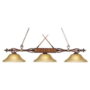 Grimm 3-Light Pool Table Light