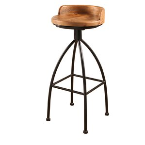 Roussillon Industrial Iron Bar Stool by G..