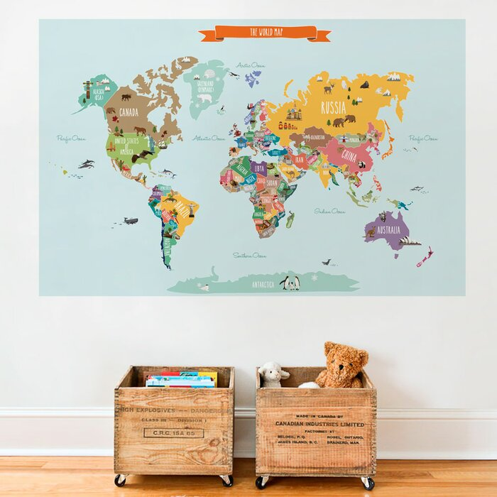 Simpleshapes countries of the world map poster wall decal reviews countries of the world map poster wall decal gumiabroncs Gallery