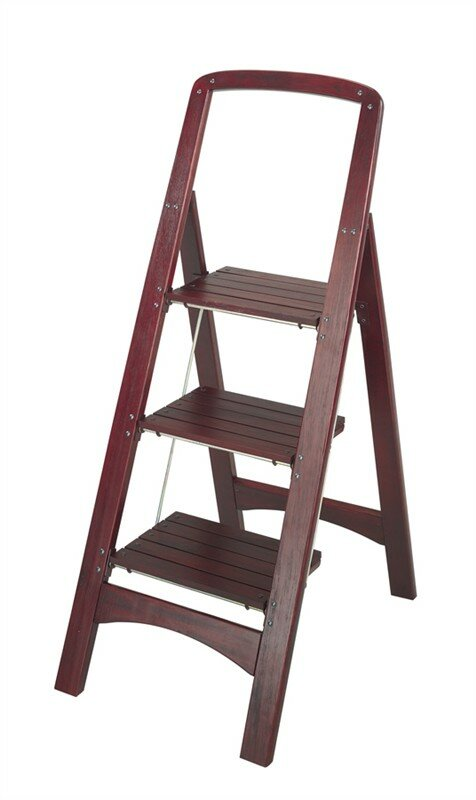 Cosco Home And Office Rockford 3 Step Wood Step Stool With