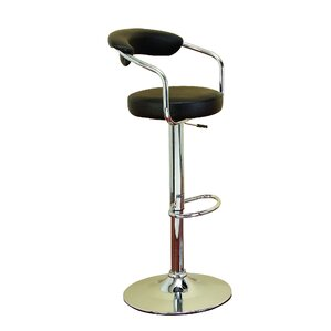 Adjustable Height Swivel Bar Stool by Woodland Imports