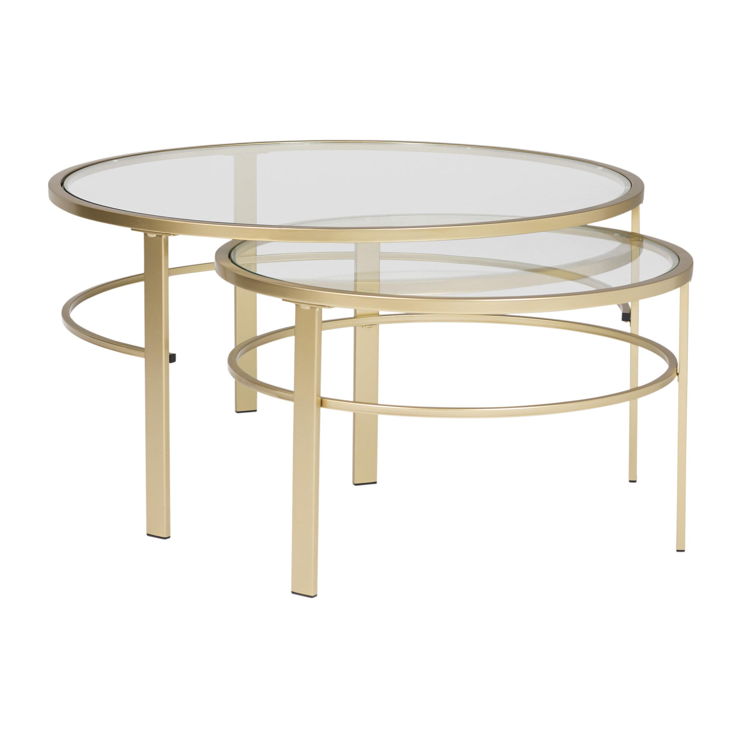 Studio Designs HOME Corbel Round Nesting 2 Piece Coffee Table Set | Wayfair