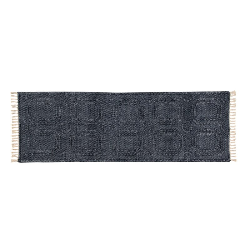 Bungalow Rose Pioche Handwoven Wool Brown Area Rug, Size: Runner 2 x 6