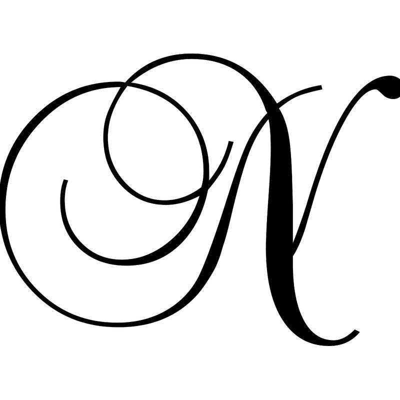 "Enchantingly Elegant Letter ""N"" Wall Decal"
