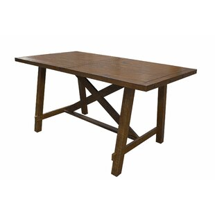 Cleitus Counter Height Solid Wood Dining Table