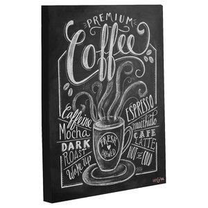 'Premium Coffee' Vintage Advertisement on Wrapped Canvas