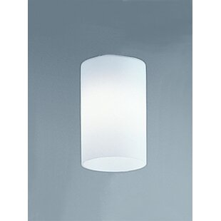 11cm Glass Drum Wall Sconce Shade
