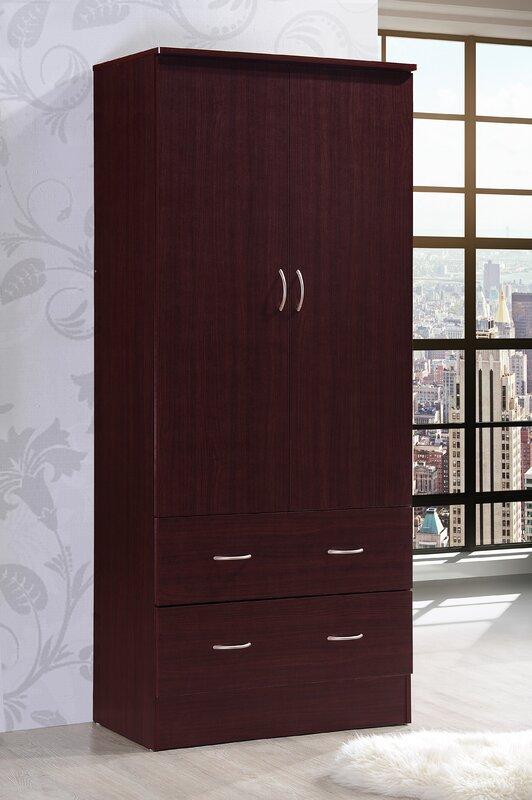 Wardrobe Armoire. Hodedah Wardrobe Armoire   Reviews   Wayfair