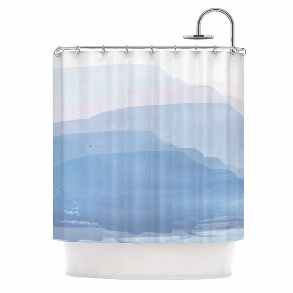 East Urban Home Layered Mountains Shower Curtain