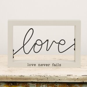 Love Wire Framed Decorative Plaque
