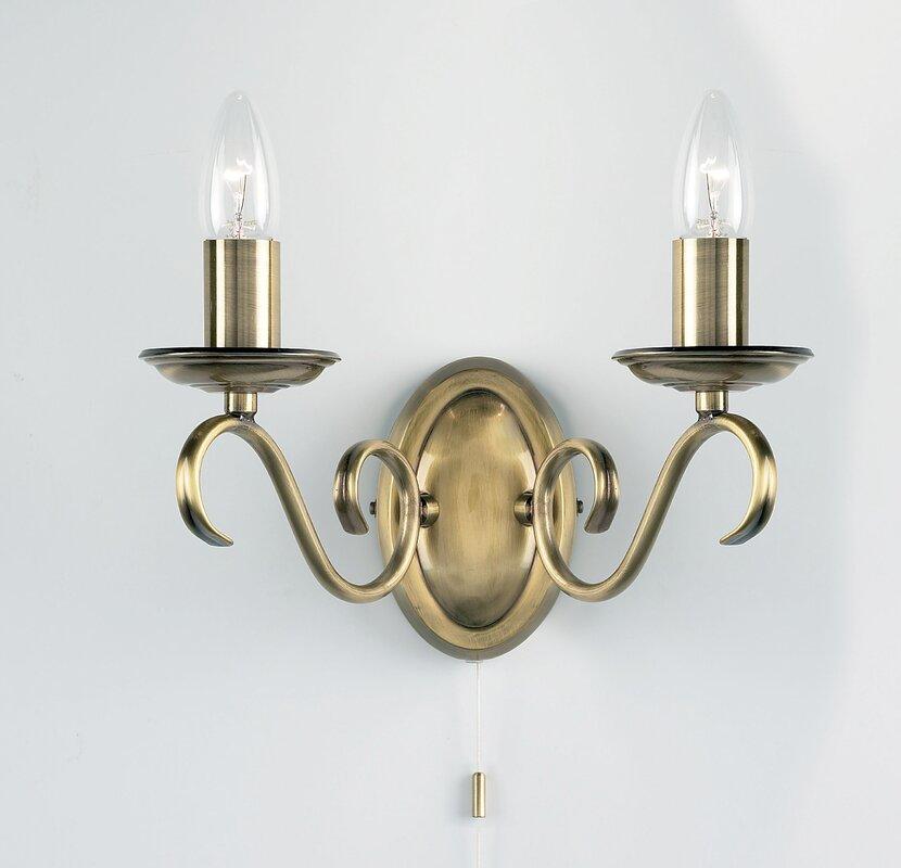 endon lighting wandleuchte 2 flammig futur bewertungen. Black Bedroom Furniture Sets. Home Design Ideas