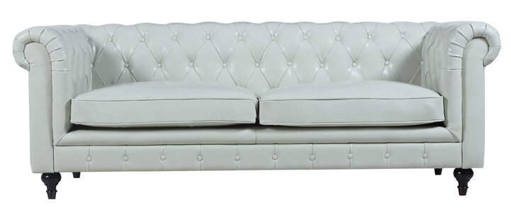 Tufted Leather Chesterfield Sofa Joss Main