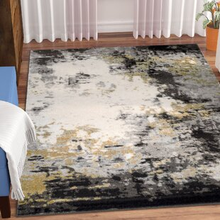 Shuff Charcoal Mustard Yellow Gray Area Rug